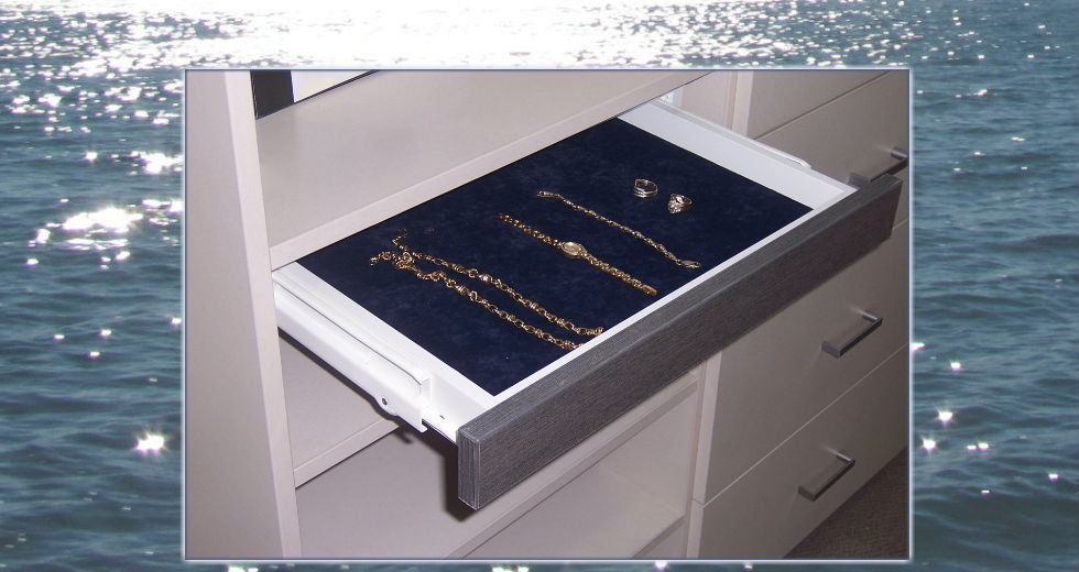 Jewellery drawer in a wardrobe